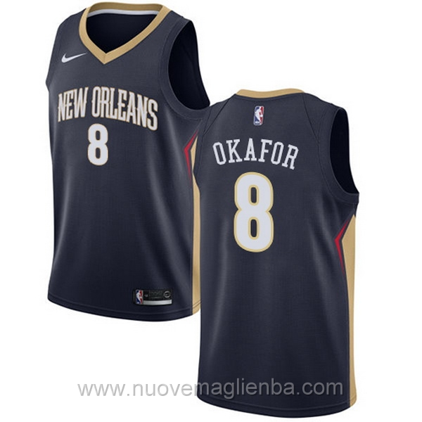 nuove maglie NBA per nike Blu scuro New Orleans Pelicans Jahlil Okafor