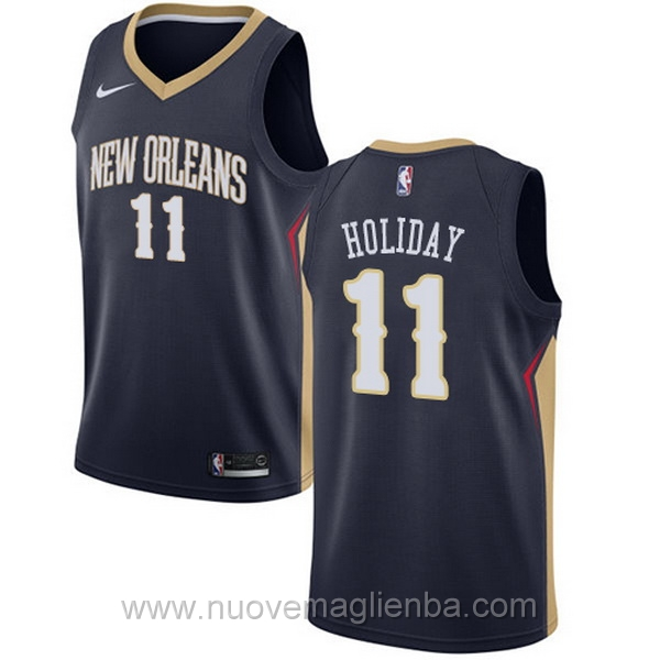 nuove maglie NBA per nike Blu scuro New Orleans Pelicans Jrue Holiday