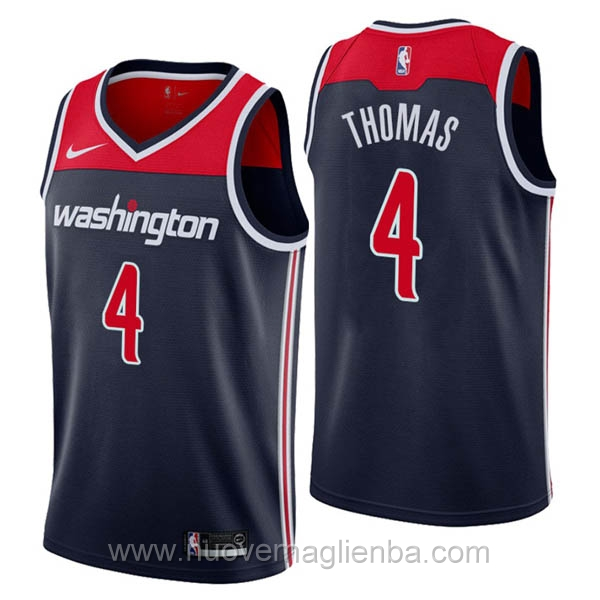 nuove maglie NBA per nike Blu scuro Washington Wizards Isaiah Thomas
