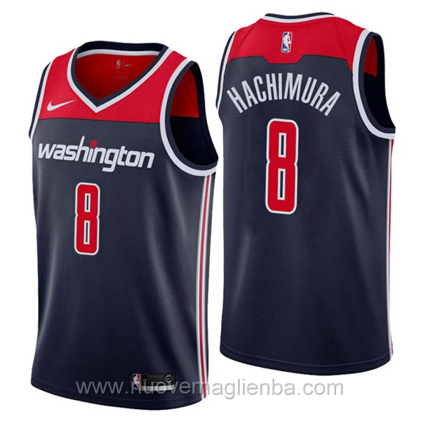 nuove maglie NBA per nike Blu scuro Washington Wizards Rui Hachimura