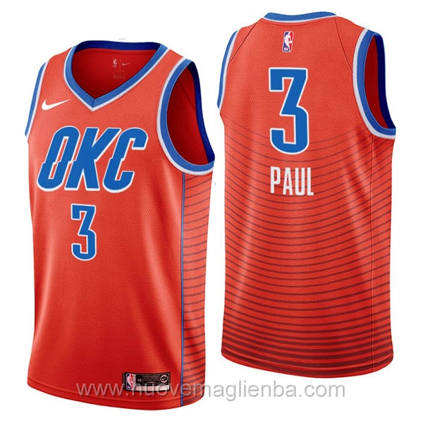 nuove maglie NBA per nike arancione Oklahoma City Thunder Chris Paul