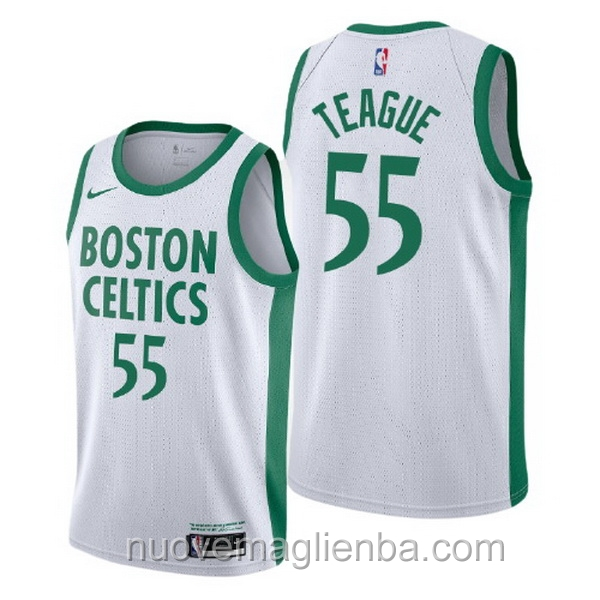 nuove maglie NBA per nike bianca Boston Celtics Jeff Teague City Edition 2020-21
