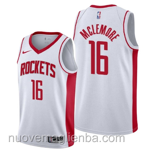 nuove maglie NBA per nike bianca Houston Rockets Ben McLemore Association 2021