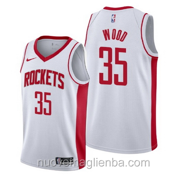 nuove maglie NBA per nike bianca Houston Rockets Christian Wood Association