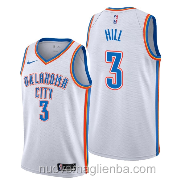 nuove maglie NBA per nike bianca Oklahoma City Thunder George Hill Association