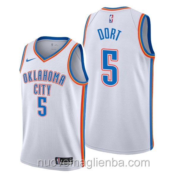 nuove maglie NBA per nike bianca Oklahoma City Thunder Luguentz Dort Association