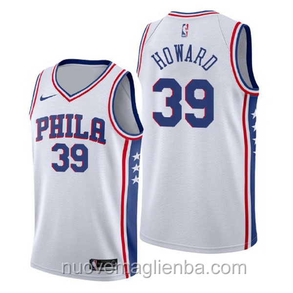 nuove maglie NBA per nike bianca Philadelphia 76ers Dwight Howard Association