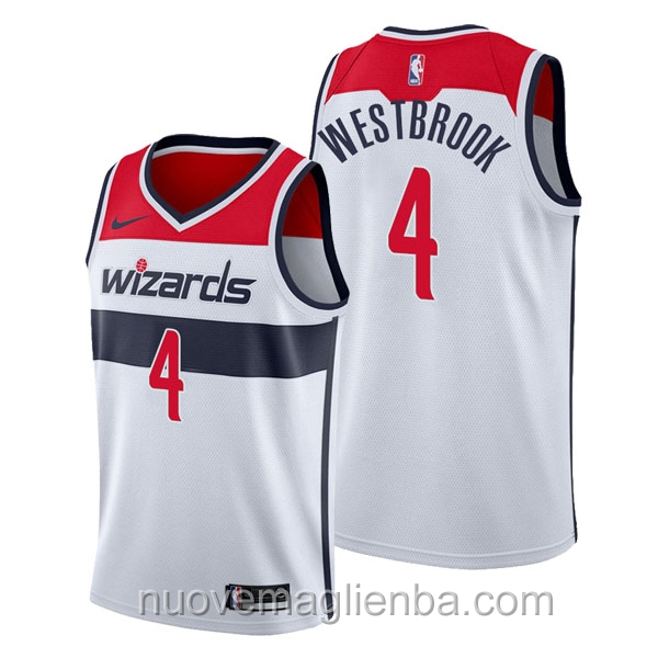 nuove maglie NBA per nike bianca Washington Wizards Russell Westbrook Associateion
