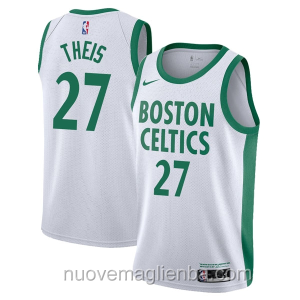 nuove maglie NBA per nike bianco Boston Celtics Daniel Theis