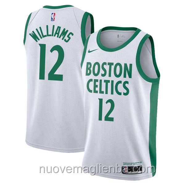 nuove maglie NBA per nike bianco Boston Celtics Grant Williams
