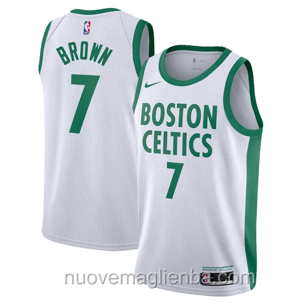 nuove maglie NBA per nike bianco Boston Celtics Jaylen Brown