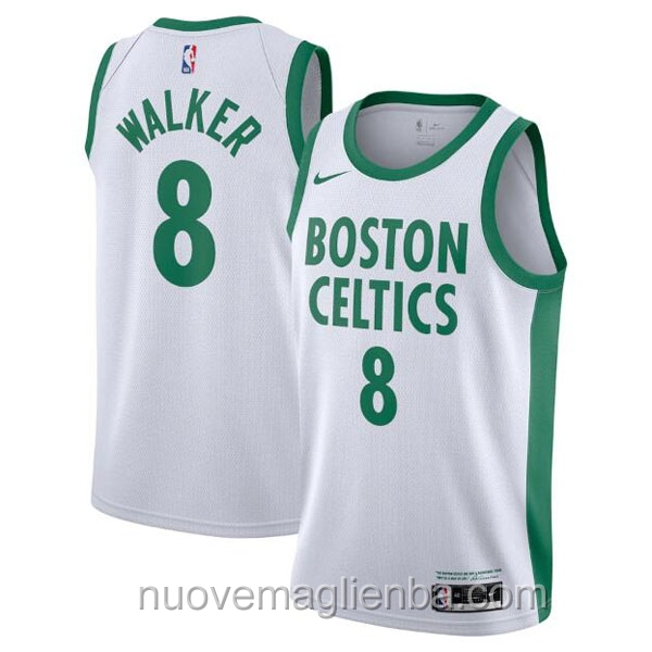 nuove maglie NBA per nike bianco Boston Celtics Kemba Walker