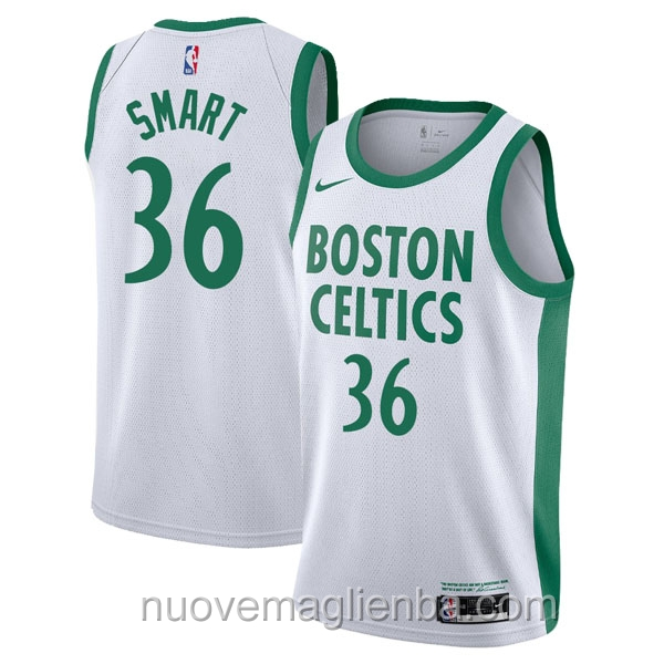 nuove maglie NBA per nike bianco Boston Celtics Marcus Smart