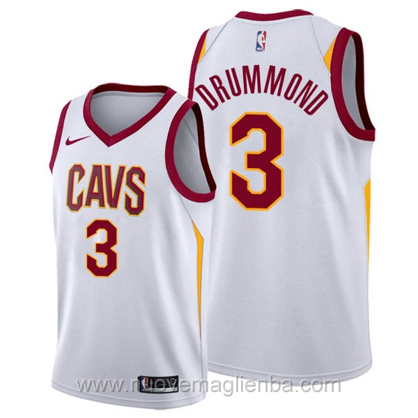 nuove maglie NBA per nike bianco Cleveland Cavaliers Andre Drummond