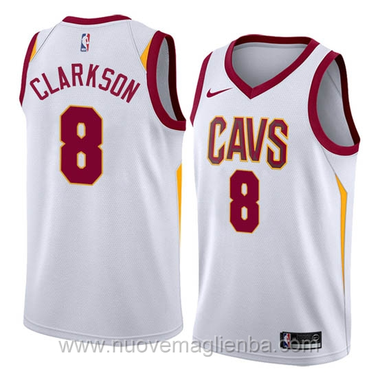 nuove maglie NBA per nike bianco Cleveland Cavaliers Jordan Clarkson