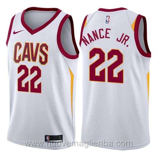 nuove maglie NBA per nike bianco Cleveland Cavaliers Larry Nance Jr