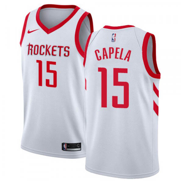 nuove maglie NBA per nike bianco Houston Rockets Clint Capela