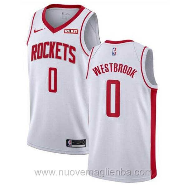 nuove maglie NBA per nike bianco Houston Rockets Russell Westbrook