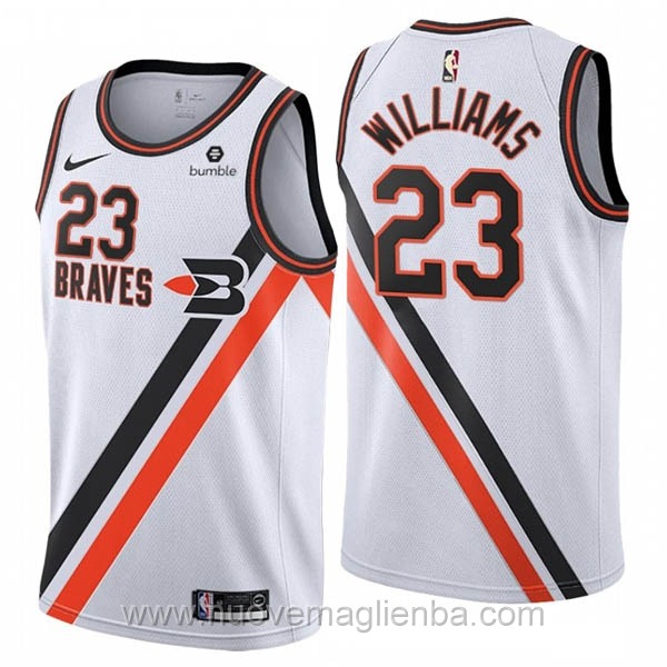 nuove maglie NBA per nike bianco Los Angeles Clippers Lou Williams 2019-20