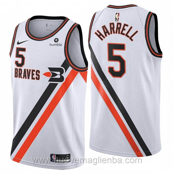 nuove maglie NBA per nike bianco Los Angeles Clippers Montrezl Harrell 2019-20