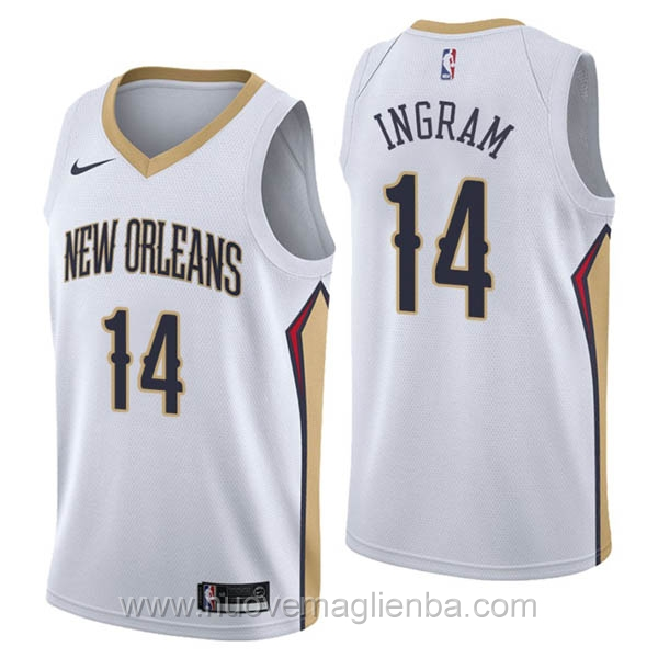 nuove maglie NBA per nike bianco New Orleans Pelicans Brandon Ingram