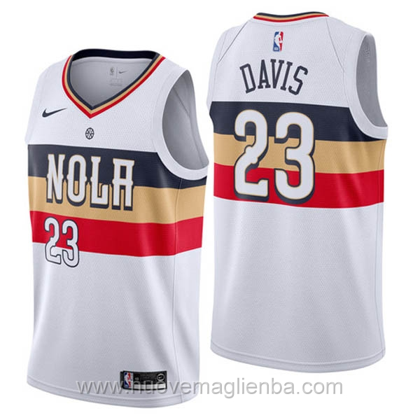 nuove maglie NBA per nike bianco New Orleans Pelicans Earned Edition-Anthony Davis