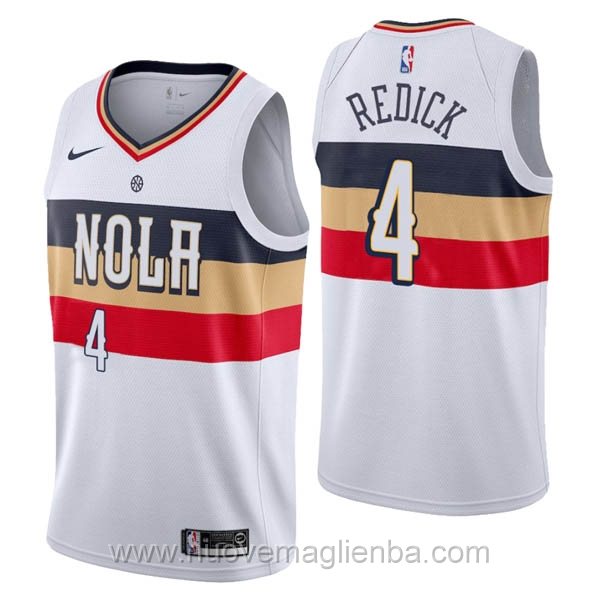 nuove maglie NBA per nike bianco New Orleans Pelicans Earned Edition-J.J. Redick