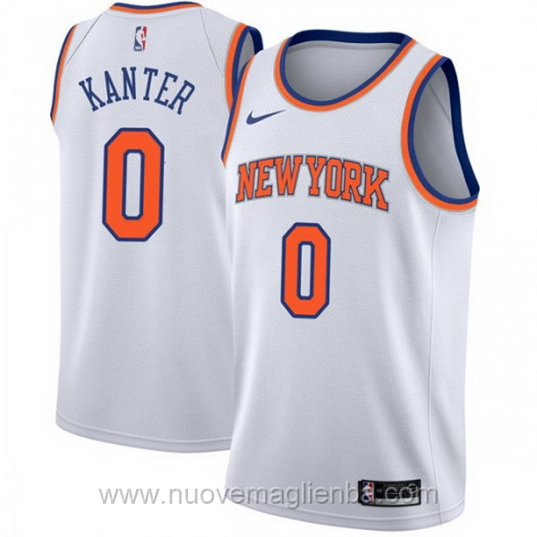 nuove maglie NBA per nike bianco New York Knicks Enes Kanter