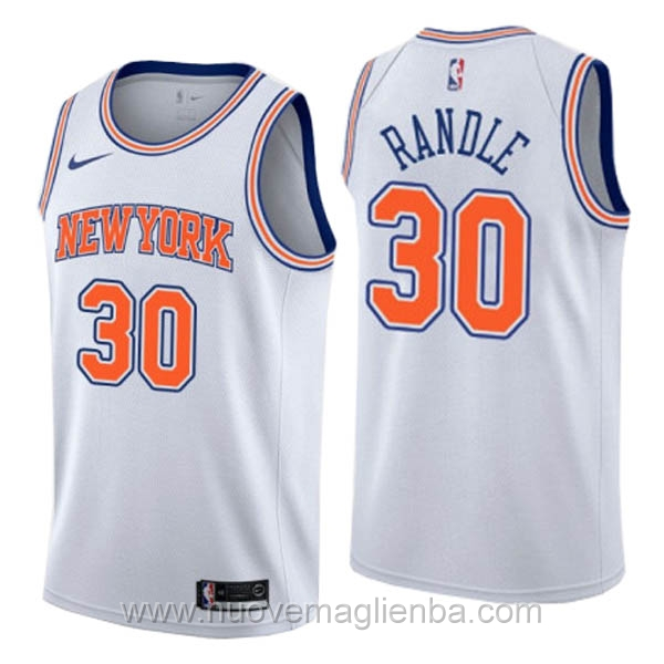 nuove maglie NBA per nike bianco New York Knicks Julius Randle Statement Edition