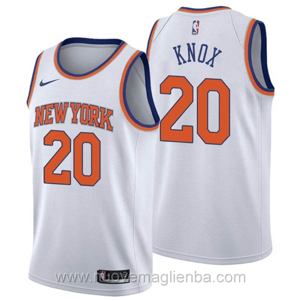 nuove maglie NBA per nike bianco New York Knicks Kevin Knox