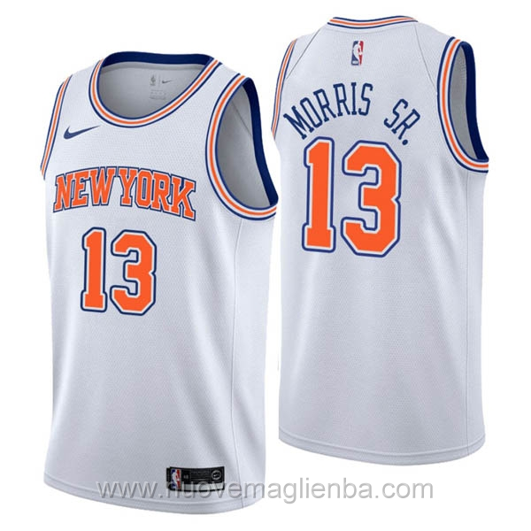 nuove maglie NBA per nike bianco New York Knicks Marcus Morris Statement Edition