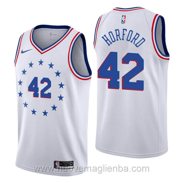 nuove maglie NBA per nike bianco Philadelphia 76ers Earned Edition-Al Horford