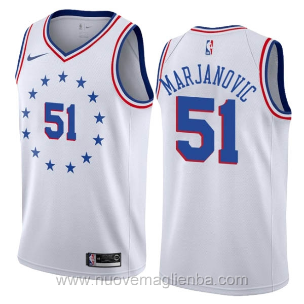 nuove maglie NBA per nike bianco Philadelphia 76ers Earned Edition-Boban Marjanovic