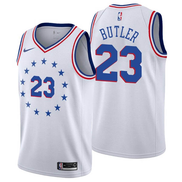 nuove maglie NBA per nike bianco Philadelphia 76ers Earned Edition-Jimmy Butler