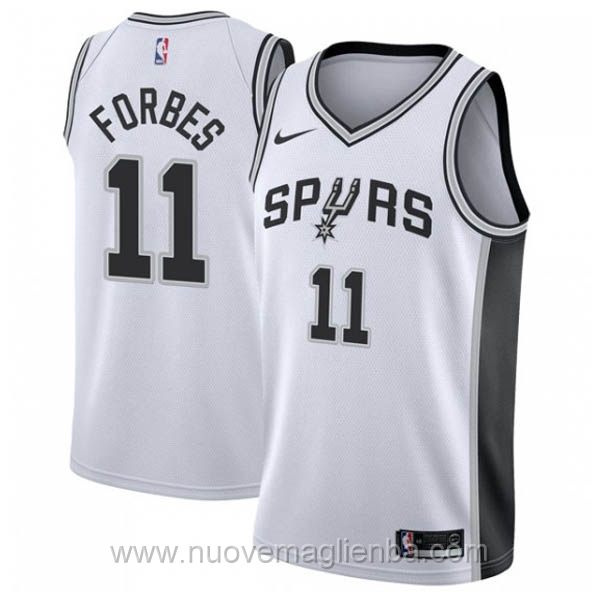 nuove maglie NBA per nike bianco San Antonio Spurs Bryn Forbes