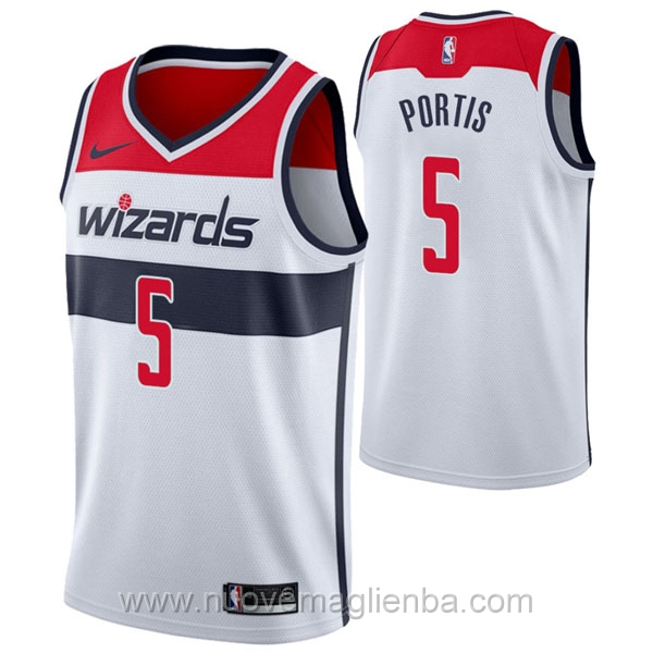 nuove maglie NBA per nike bianco Washington Wizards Bobby Portis