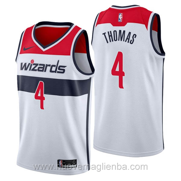 nuove maglie NBA per nike bianco Washington Wizards Isaiah Thomas