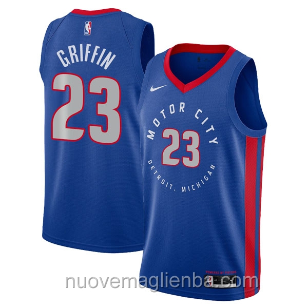 nuove maglie NBA per nike blu Detroit Pistons Blake Griffin