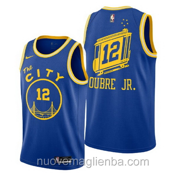 nuove maglie NBA per nike blu Golden State Warriors Kelly Oubre Jr Hardwood Classics 2020-21