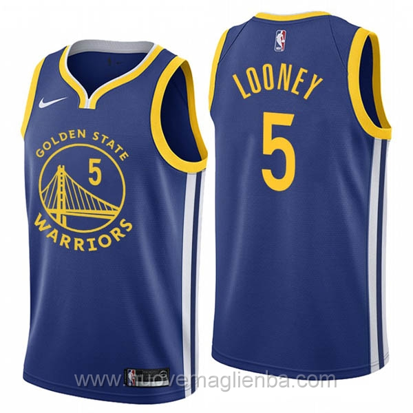nuove maglie NBA per nike blu Golden State Warriors Kevon-Looney 2019-20