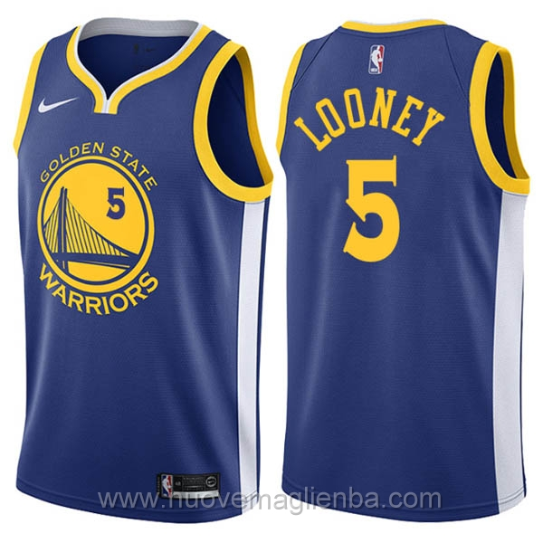 nuove maglie NBA per nike blu Golden State Warriors Kevon Looney