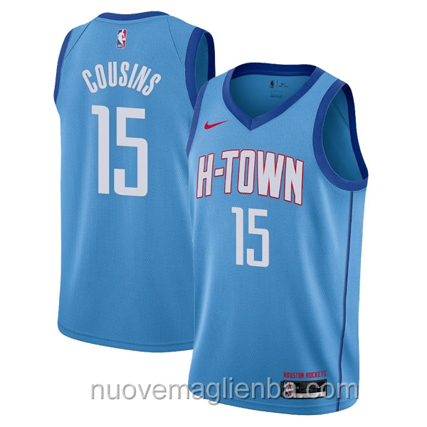 nuove maglie NBA per nike blu Houston Rockets DeMarcus Cousins