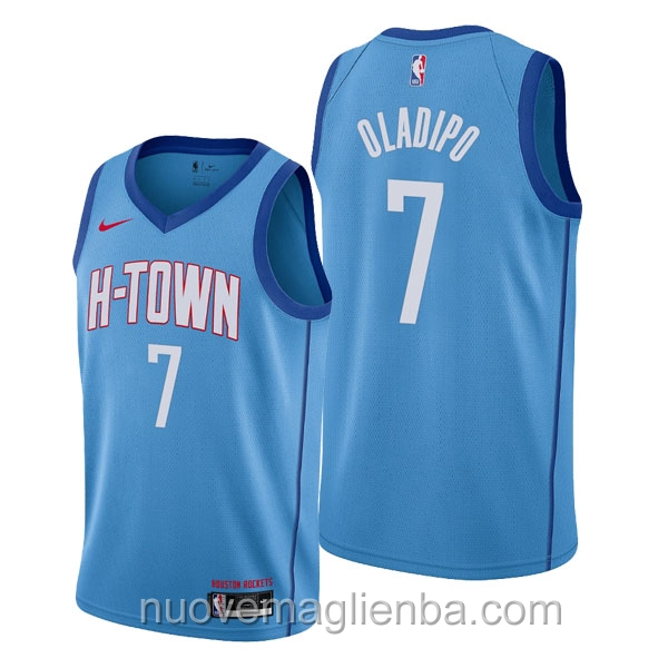nuove maglie NBA per nike blu Houston Rockets Victor Oladipo City Edition 2020-21