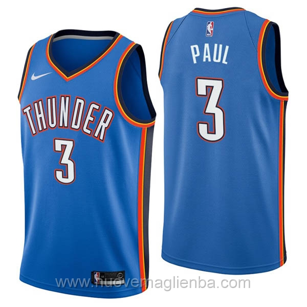 nuove maglie NBA per nike blu Oklahoma City Thunder Chris Paul