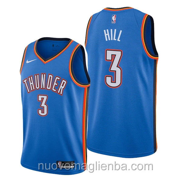nuove maglie NBA per nike blu Oklahoma City Thunder George Hill Icon