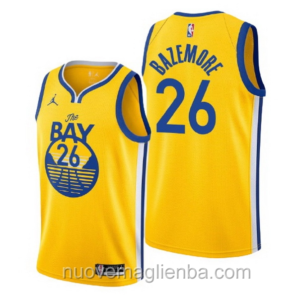 nuove maglie NBA per nike giallo Golden State Warriors Kent Bazemore Statement