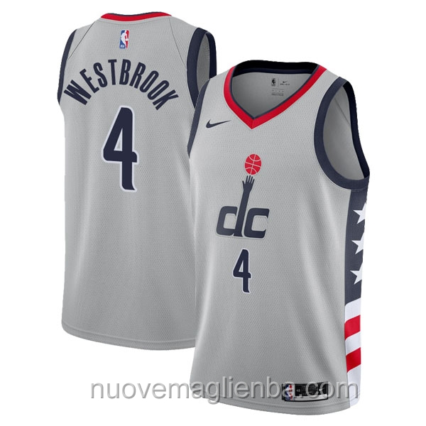 nuove maglie NBA per nike grigio Washington Wizards Russell Westbrook