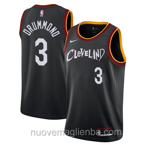 nuove maglie NBA per nike nero Cleveland Cavaliers Andre Drummond