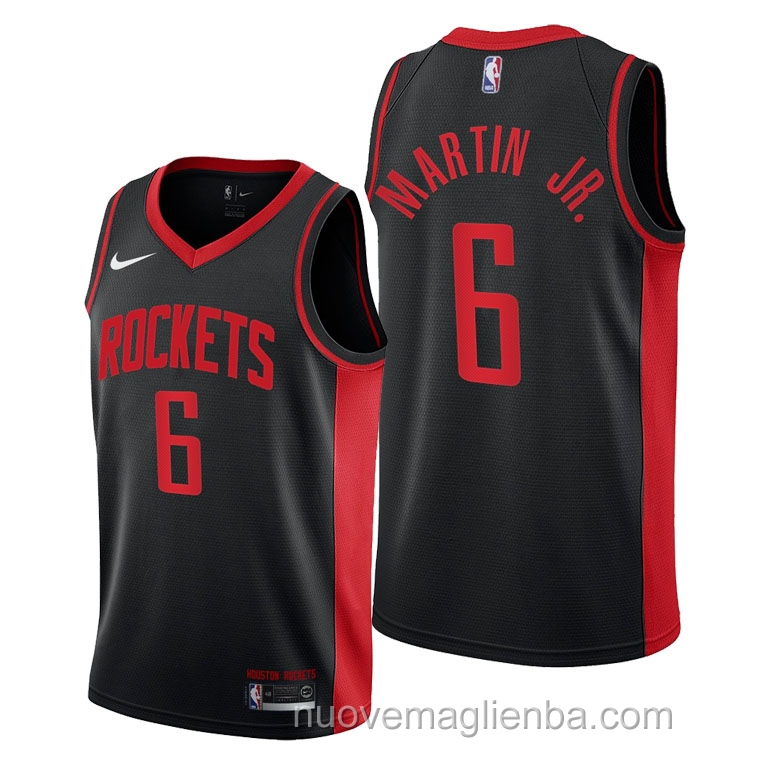 nuove maglie NBA per nike nero Houston Rockets Kenyon Martin Jr Earned 2021