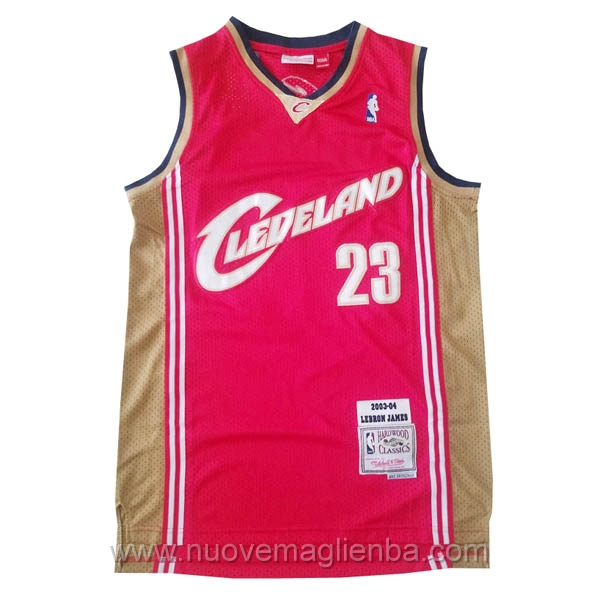 nuove maglie NBA per nike rosso Cleveland Cavaliers Lebron James